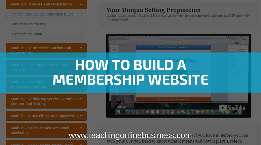 Membership Website: How To Easily Build Your First Membership Site